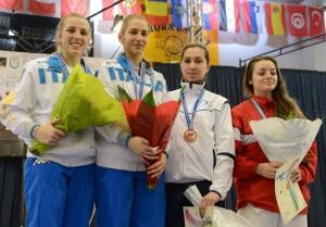 Malina Calugareanu pe podium