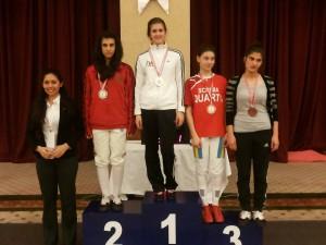 Alexandra Predescu (locul 1), Mihaela Leonte (locul 3)