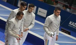 echipa Romaniei - Dolniceanu, Badea, Galatanu si Teodosiu