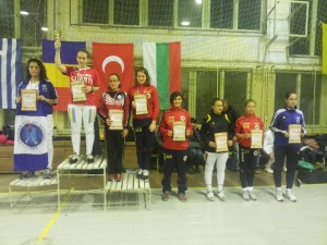 Andrea Hodorogea - locul 1, cu Bianca Samoila - locul 3,