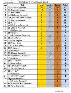 clasament pe medalii 2014