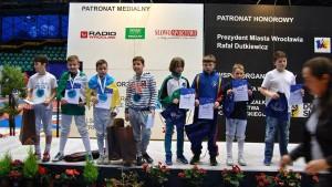 Florin Mirica pe podium