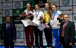 Alexandra pe podium