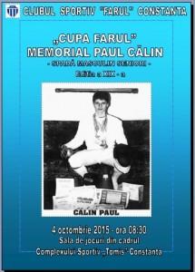 afis Memorial Paul Calin Cupa Farul