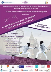 Afis CN floreta tineret Timisoara 2016