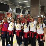 Dolniceanu, Popescu, Dinu, Gherman, Pop, Calugareanu, Podeanu, Epurescu la plecarea spre Rio