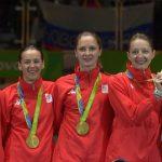 Dinu, Pop, Popescu, Gherman cu medaliile pe podium cu Podeanu