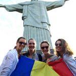 Simona Gherman, Simona Pop, Loredana Dinu și Ana Maria Popescu pe Corcovado