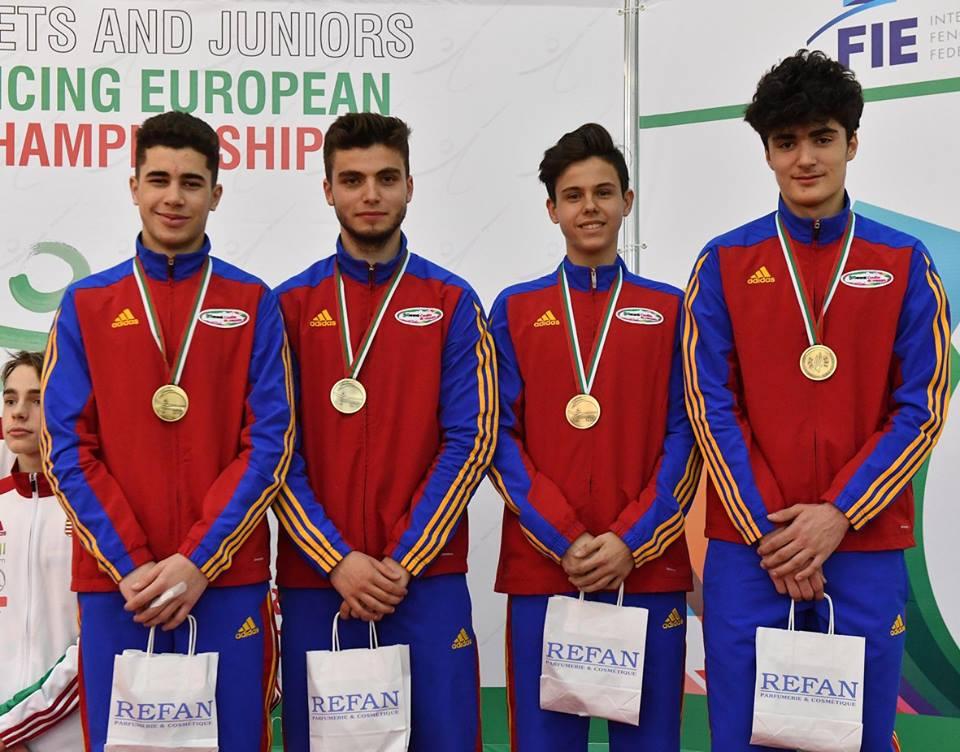 Stanescu-M-Aniculoesei-Ailinca-Pastin-locul-3-la-CE-cadeti-echipe-sabie-Plovdiv-2017-4